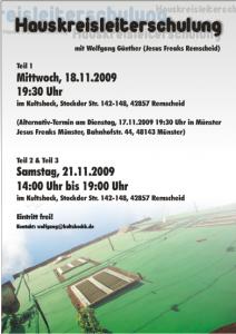 Flyer für die Hauskreisleiterschulung